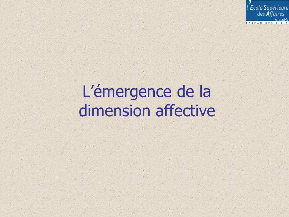 Lémergence de la dimension affective