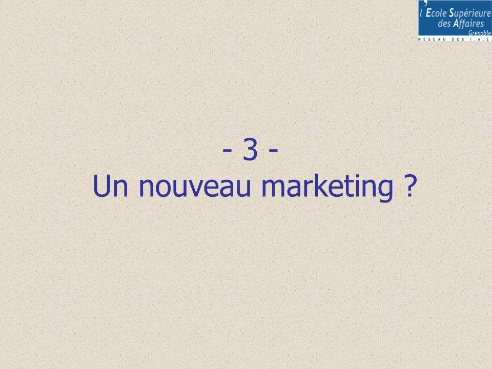 - 3 - Un nouveau marketing ?
