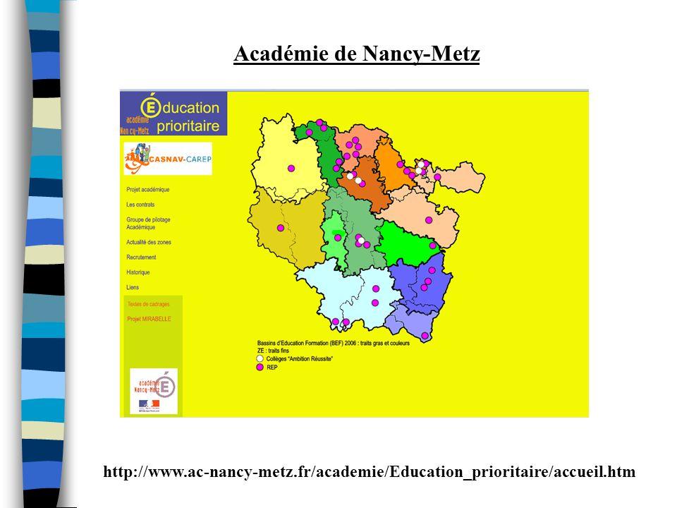 http://www.ac-nancy-metz.fr/academie/Education_prioritaire/accueil.htm Académie de Nancy-Metz