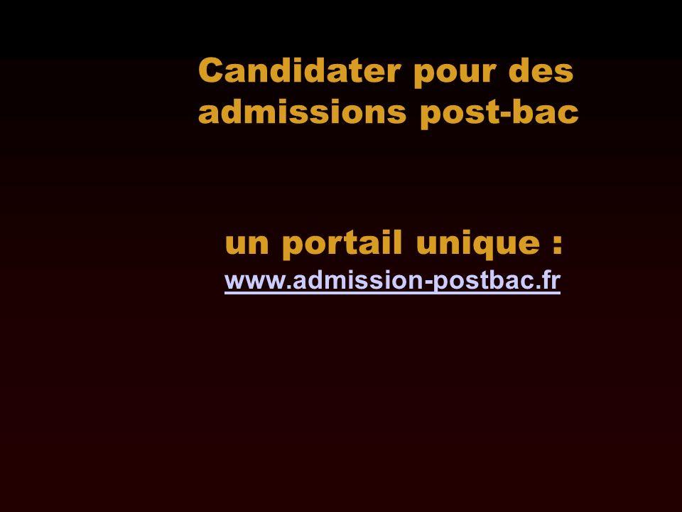 Candidater pour des admissions post-bac un portail unique : www.admission-postbac.fr