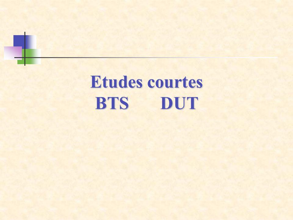 Etudes courtes BTS DUT