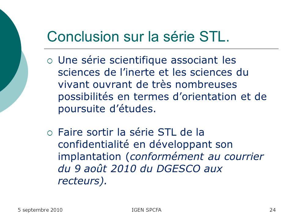 Conclusion sur la série STL.