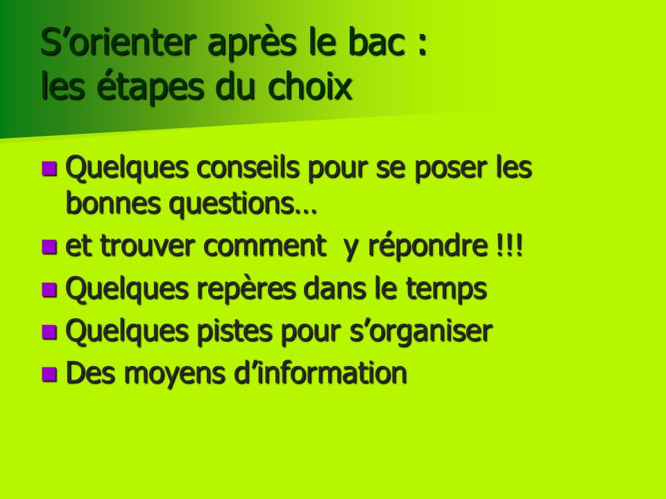 Les sites ONISEP http://post-bac.onisep.fr