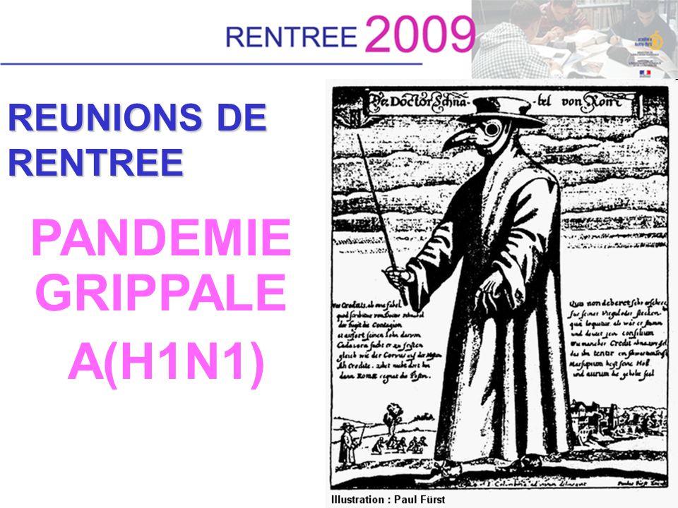 REUNIONS DE RENTREE PANDEMIE GRIPPALE A(H1N1)