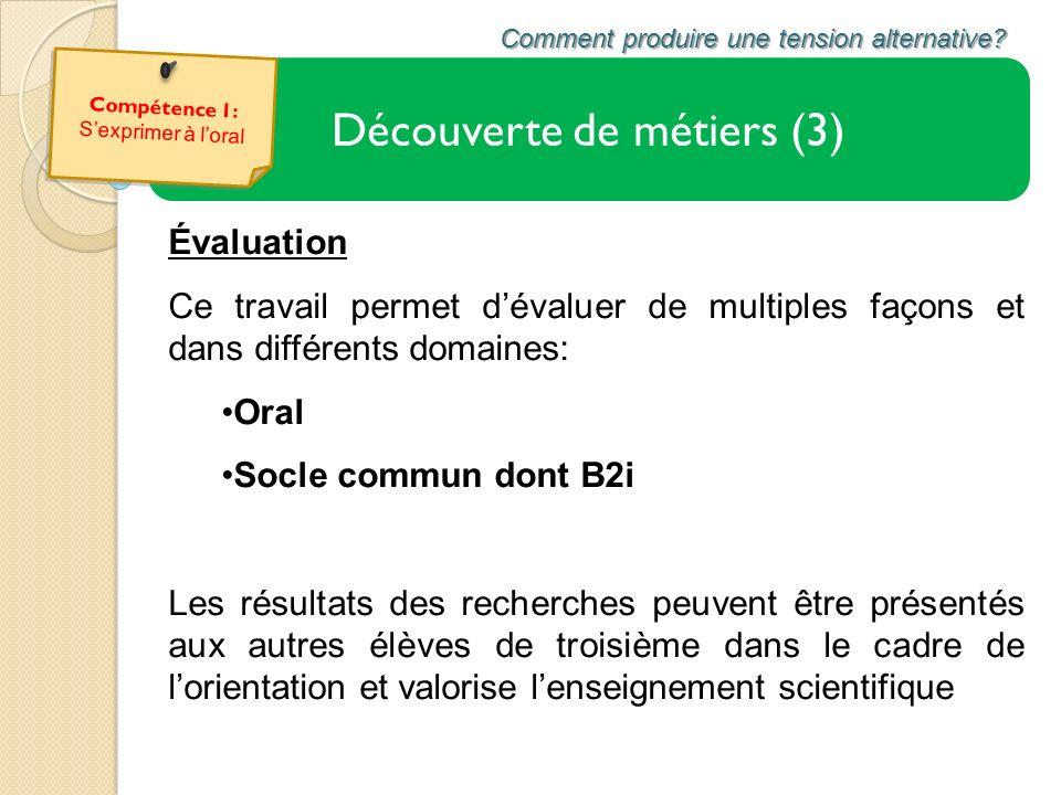 Évaluation Ce travail permet dévaluer de multiples façons et dans différents domaines: Oral Socle commun dont B2i Les résultats des recherches peuvent