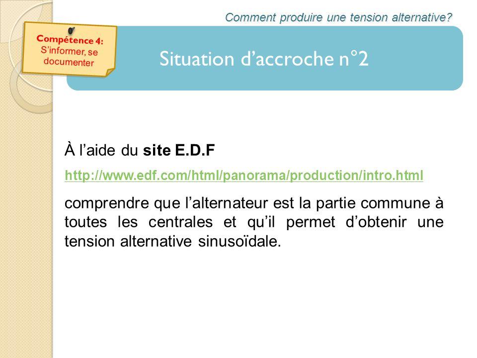 À laide du site E.D.F http://www.edf.com/html/panorama/production/intro.html comprendre que lalternateur est la partie commune à toutes les centrales