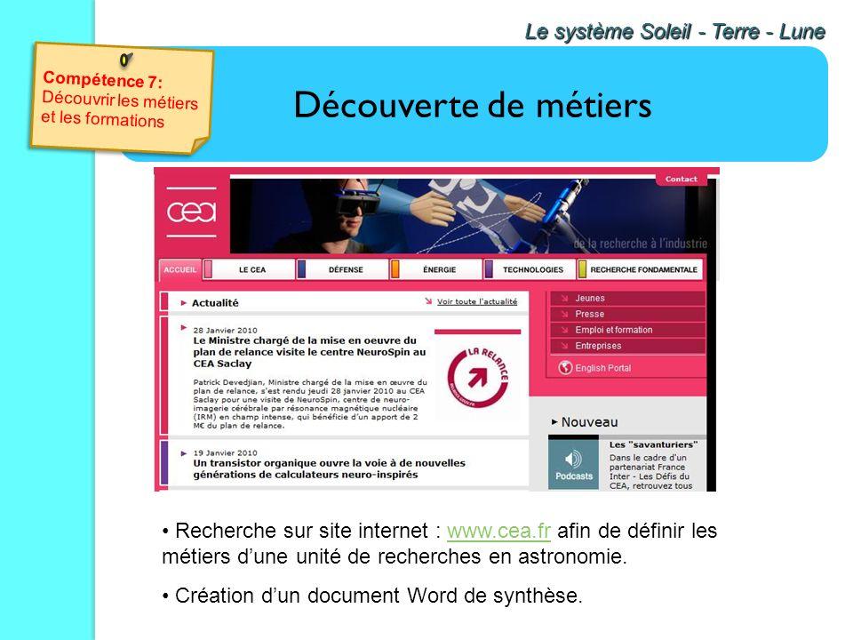 Utilisation du logiciel gratuit Celestia. Utilisation de vidéos ou danimations Le système Soleil - Terre - Lune