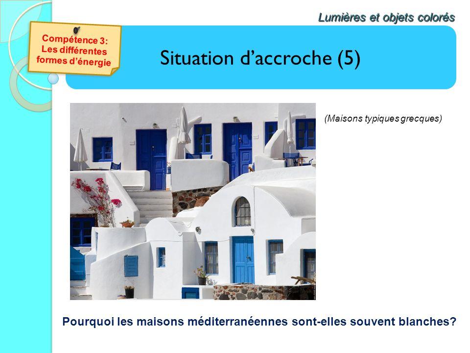 Situation daccroche (5) Lumières et objets colorés Pourquoi les maisons méditerranéennes sont-elles souvent blanches? (Maisons typiques grecques)