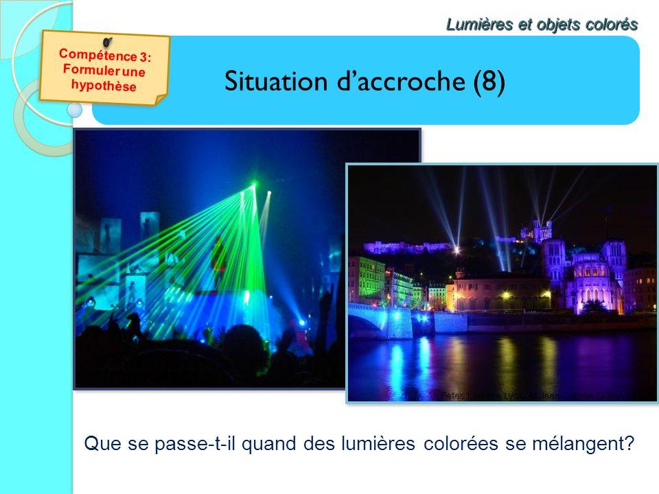 Situation daccroche (8) Lumières et objets colorés Que se passe-t-il quand des lumières colorées se mélangent?