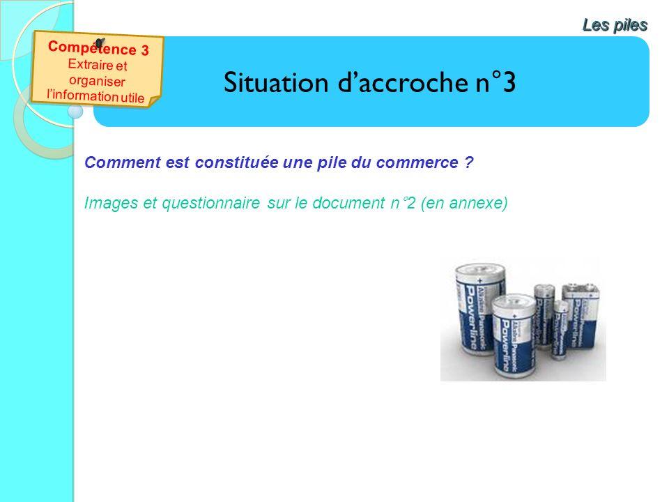 Situation daccroche n°3 Les piles Comment est constituée une pile du commerce ? Images et questionnaire sur le document n°2 (en annexe)
