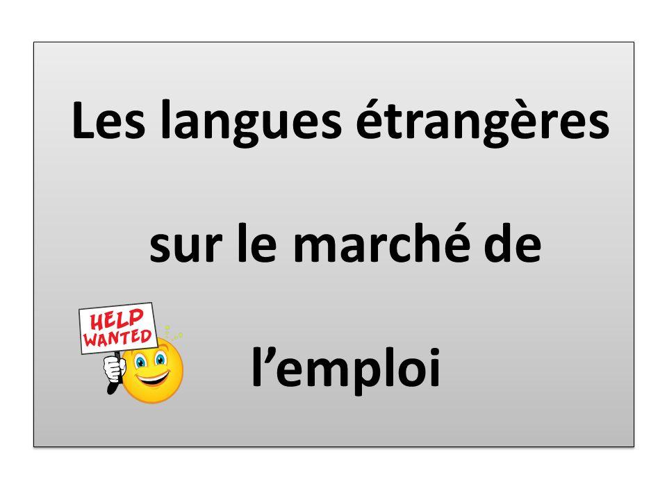 Les langues étrangères sur le marché de lemploi