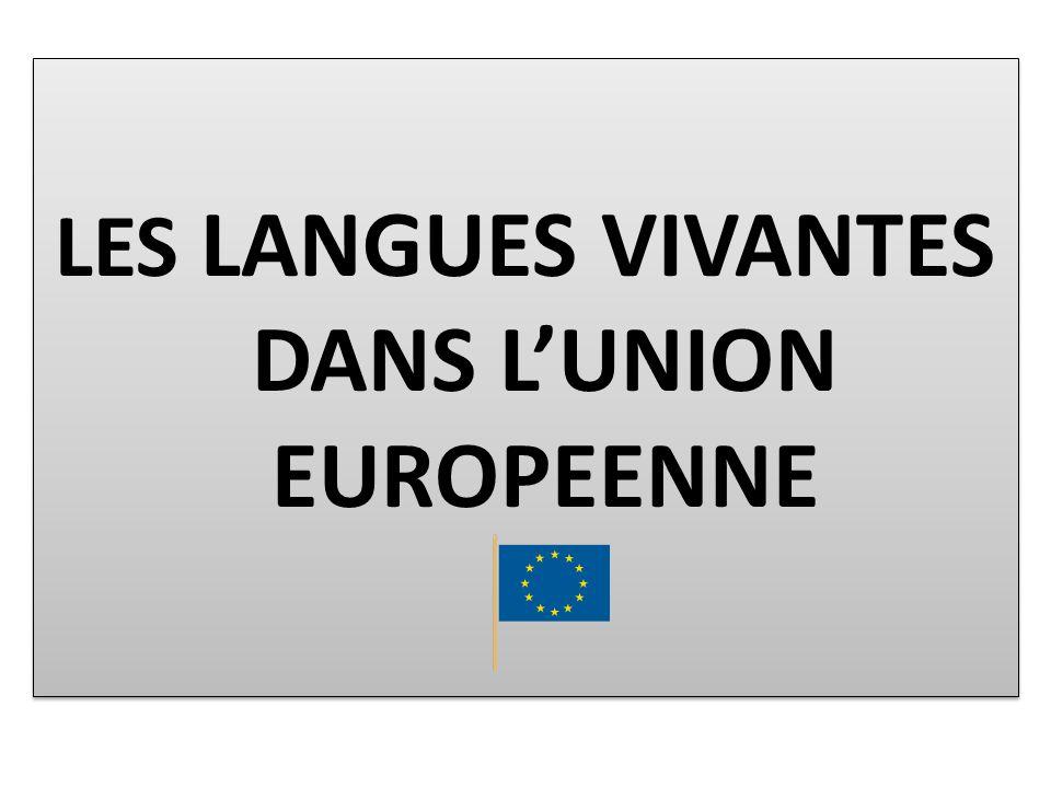 LES LANGUES VIVANTES DANS LUNION EUROPEENNE