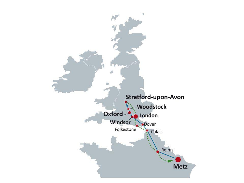 DOVER WINDSOR OXFORD LONDON STRATFORD WOODSTOCK Programme des visites