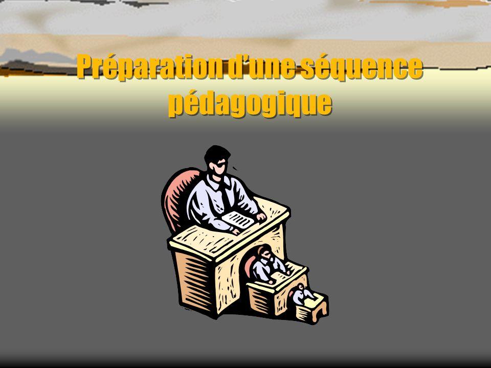 PREPARATION DUNE SEQUENCE Quels agencement et contenus du document élève ( ressources ) .