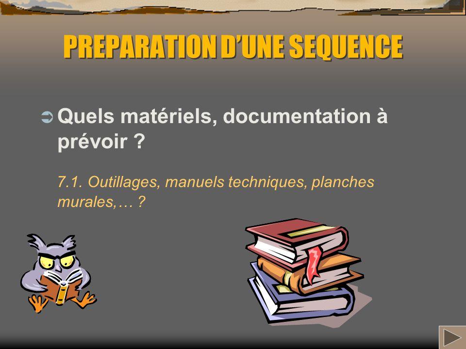 PREPARATION DUNE SEQUENCE Comment organiser le déroulement de la séquence .