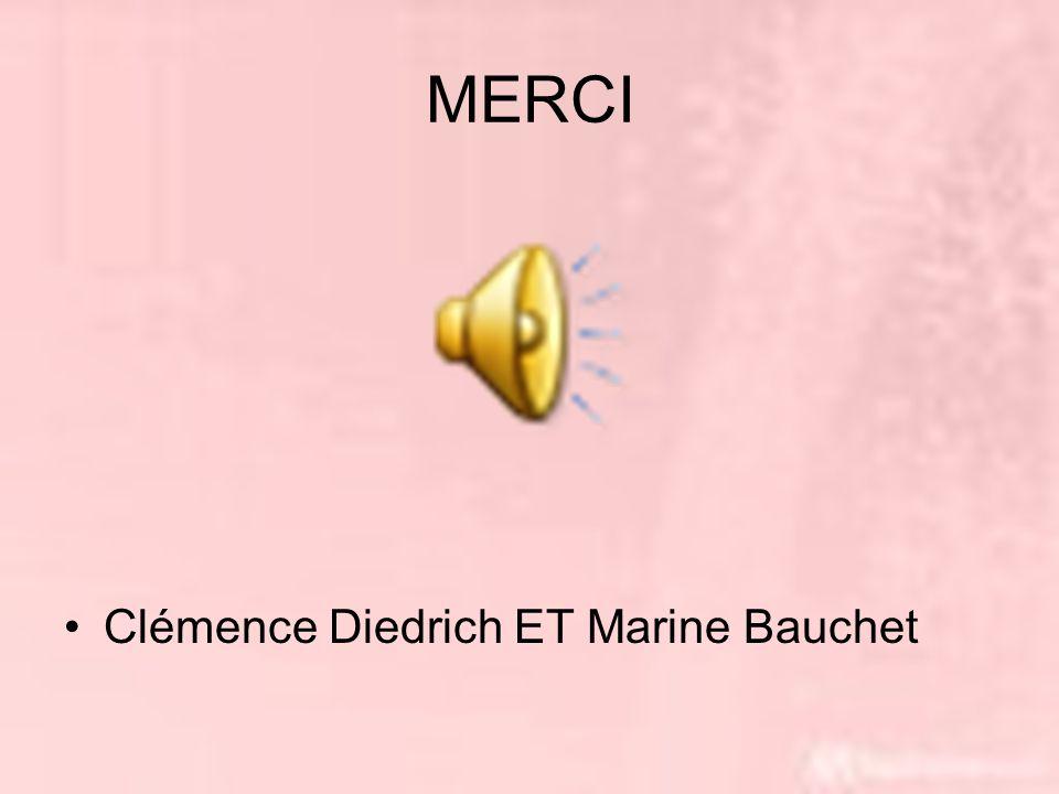 MERCI Clémence Diedrich ET Marine Bauchet