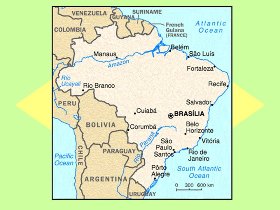 Généralités Population: 188 078 230 habitants Capitale: Brasilia Langue: Portugais Monnaie: Réal (1 = 3 R$) Superficie: 8 547 404 km² (France=543 965 km 2 ) Système politique: République fédérale constitutionnelle (26 états fédérés et un président de la république: Lula)