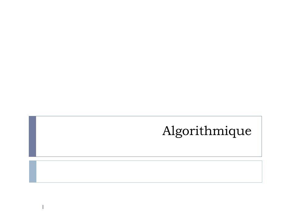 12 Les compétences visées (document ressource) Être capable de … comprendre et analyser un algorithme préexistant ; modifier un algorithme pour obtenir un résultat particulier ; analyser la situation : identifier les données dentrée, de sortie, le traitement...; mettre au point une solution algorithmique : comment écrire un algorithme en « langage courant » en respectant un code, identifier les boucles, les tests, des opérations décriture, daffichage...