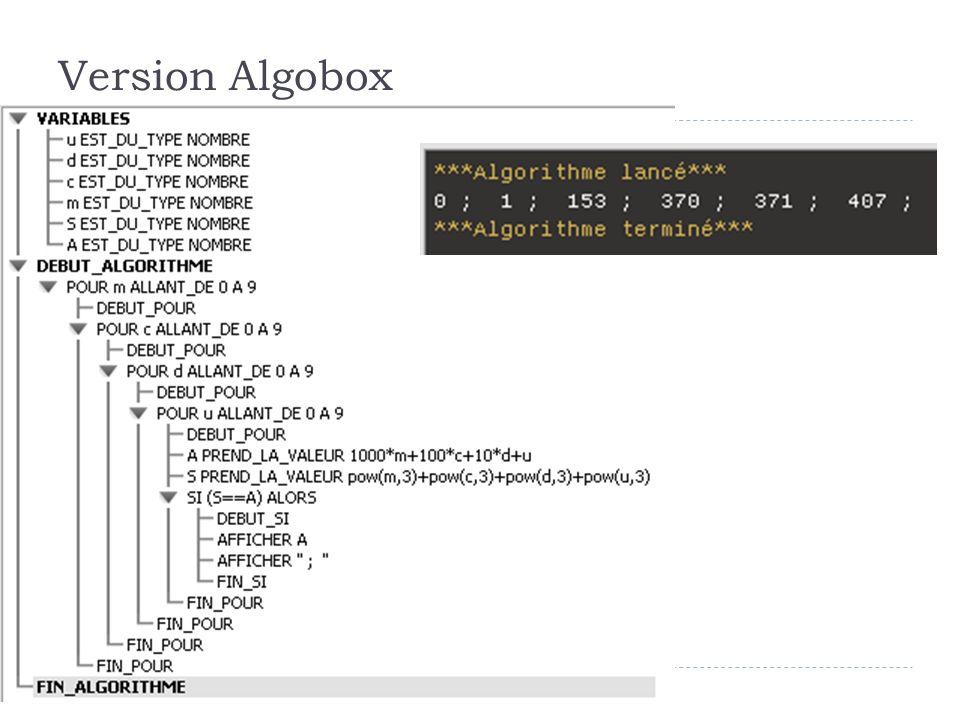 23 Version Algobox