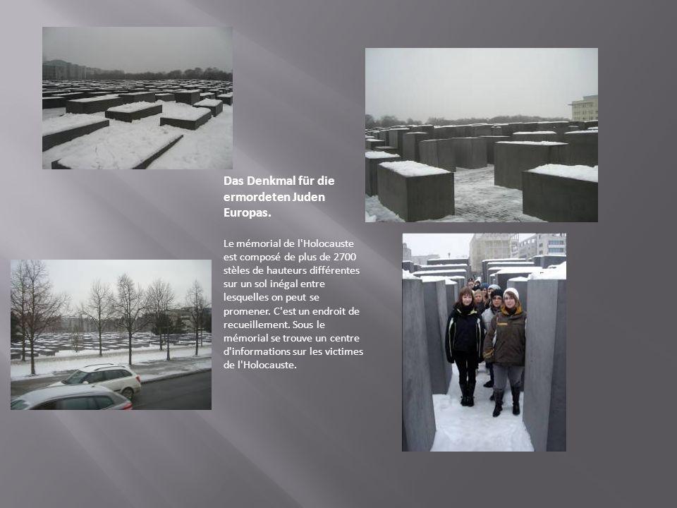 Das Denkmal für die ermordeten Juden Europas.