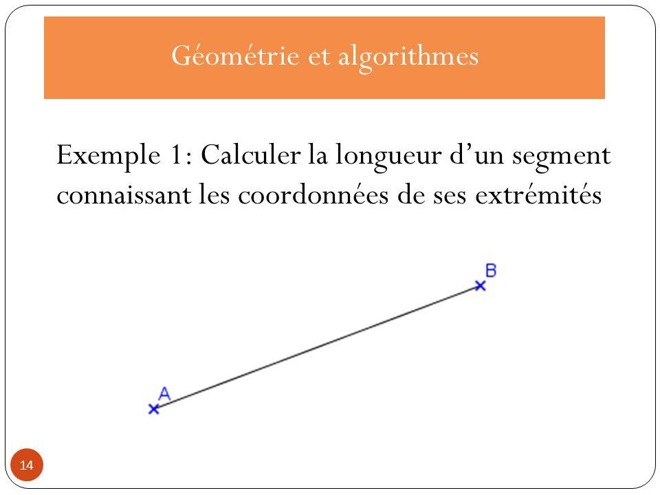 Langage naturel On lit les coordonnées (a ; b) de A et les coordonnées (c ; d) de B.