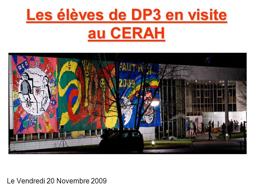 Les élèves de DP3 en visite au CERAH Le Vendredi 20 Novembre 2009