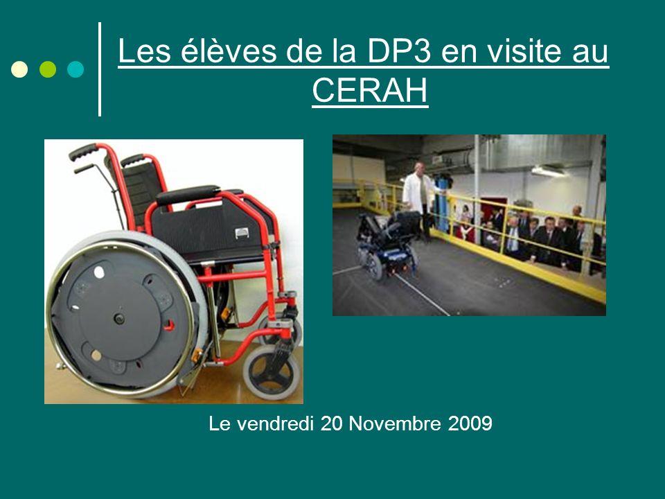 Les élèves de la DP3 en visite au CERAH Le vendredi 20 Novembre 2009