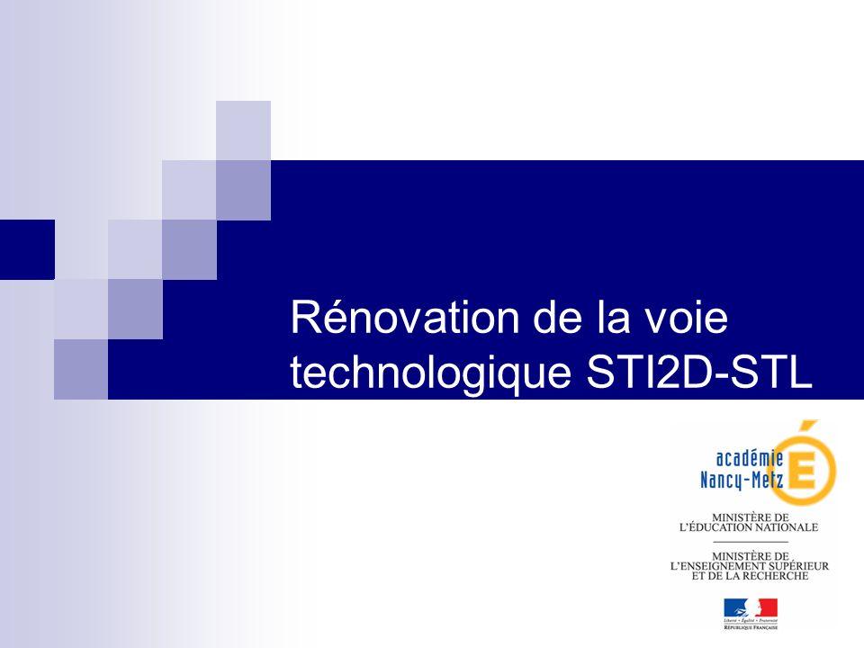 1 Rénovation de la voie technologique STI2D-STL