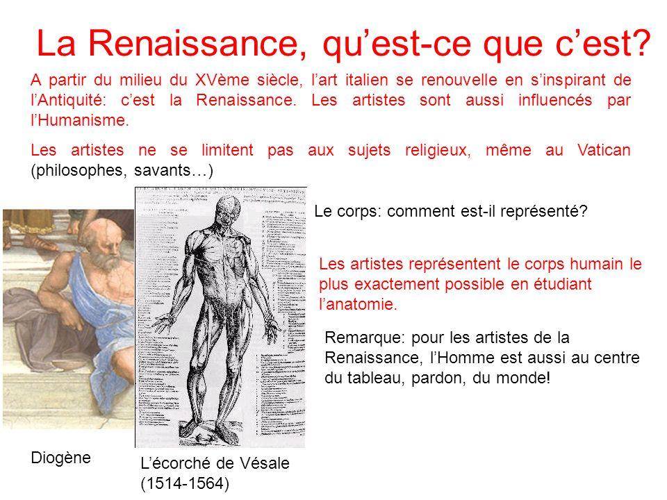 La Renaissance, quest-ce que cest? A partir du milieu du XVème siècle, lart italien se renouvelle en sinspirant de lAntiquité: cest la Renaissance. Le