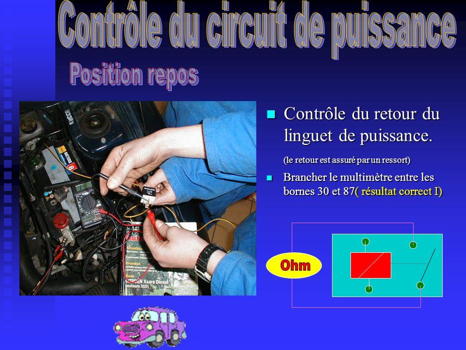 A laide du multimètre en position ohm, contrôler la résistance de la bobine.