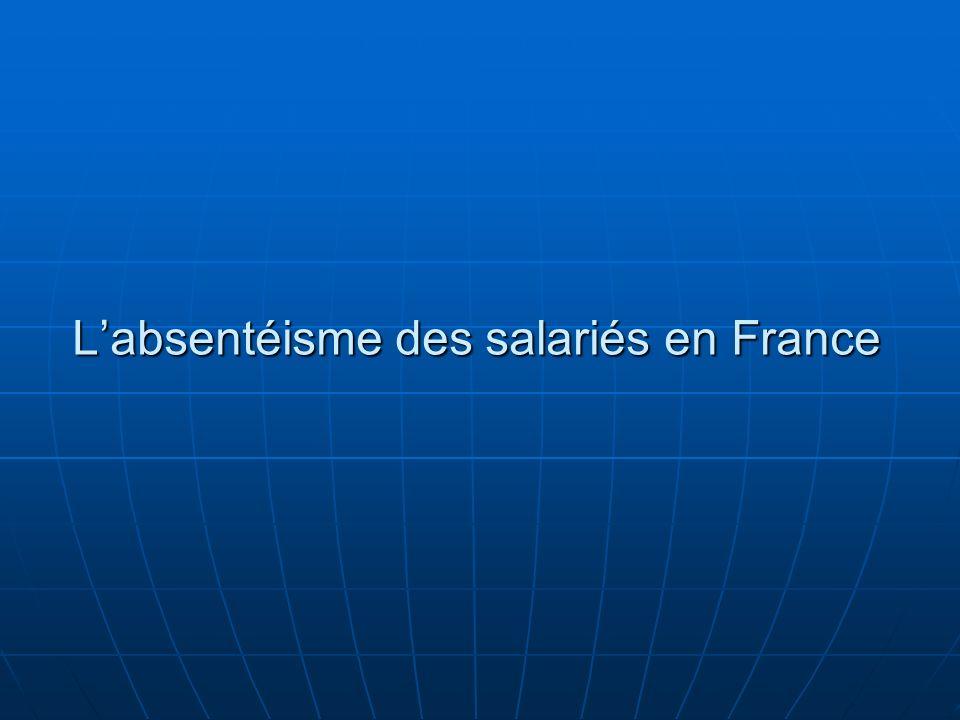 Labsentéisme des salariés en France