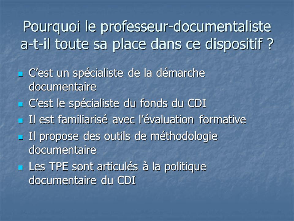 La progression proposée au lycée Poncelet Situation : 3 prof-docs investies dans les TPE depuis 5 ans.