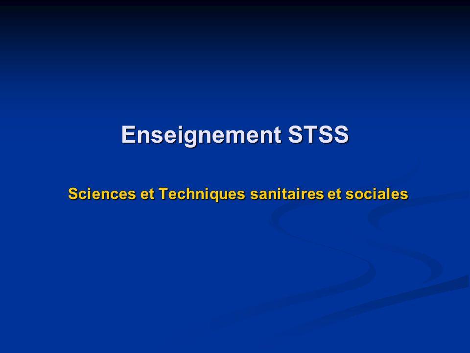 Enseignement STSS Sciences et Techniques sanitaires et sociales