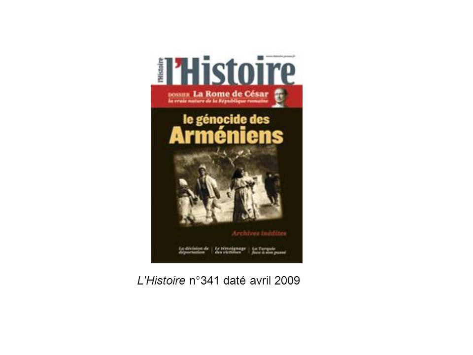 L'Histoire n°341 daté avril 2009