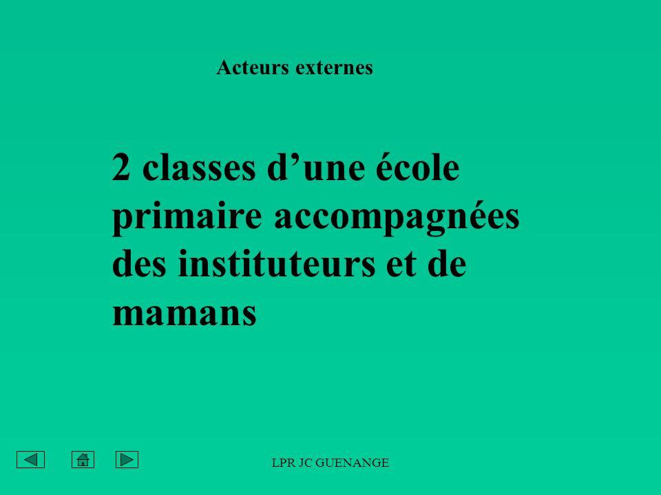 LPR JC GUENANGE Acteurs externes 2 classes dune école primaire accompagnées des instituteurs et de mamans