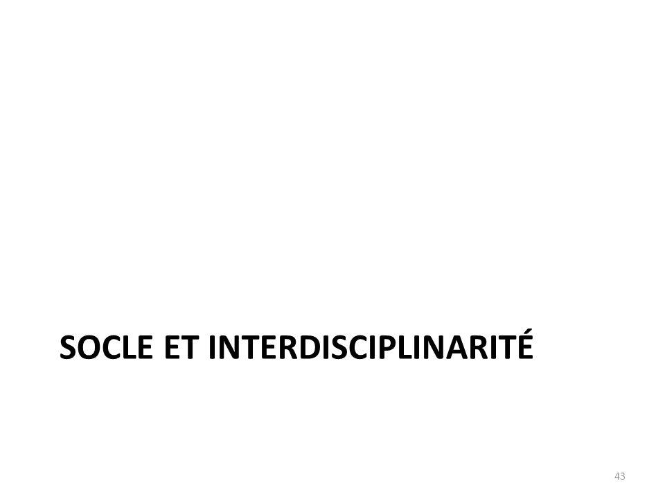 SOCLE ET INTERDISCIPLINARITÉ 43