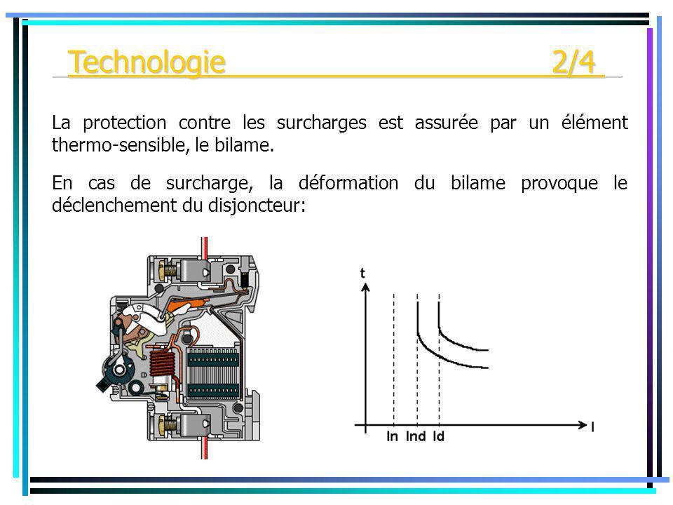 La protection contre les surcharges est assurée par un élément thermo-sensible, le bilame. En cas de surcharge, la déformation du bilame provoque le d