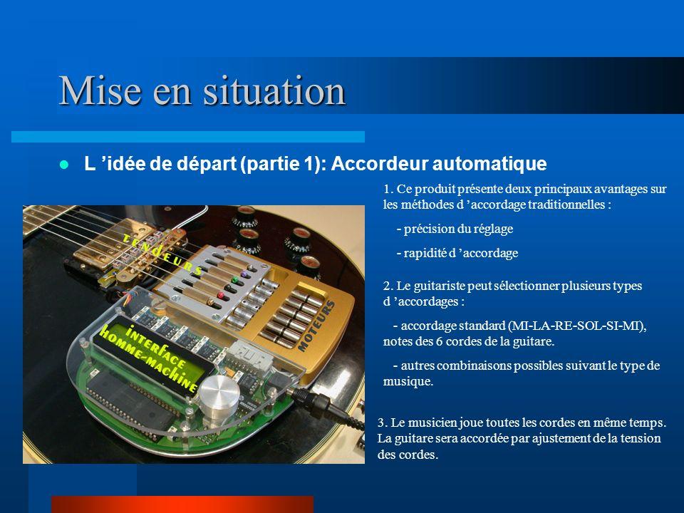 Mise en situation L idée de départ (partie 1): Accordeur automatique 1.
