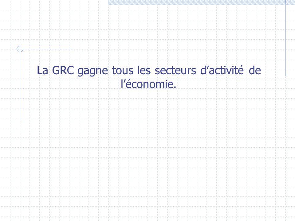 La GRC gagne tous les secteurs dactivité de léconomie.