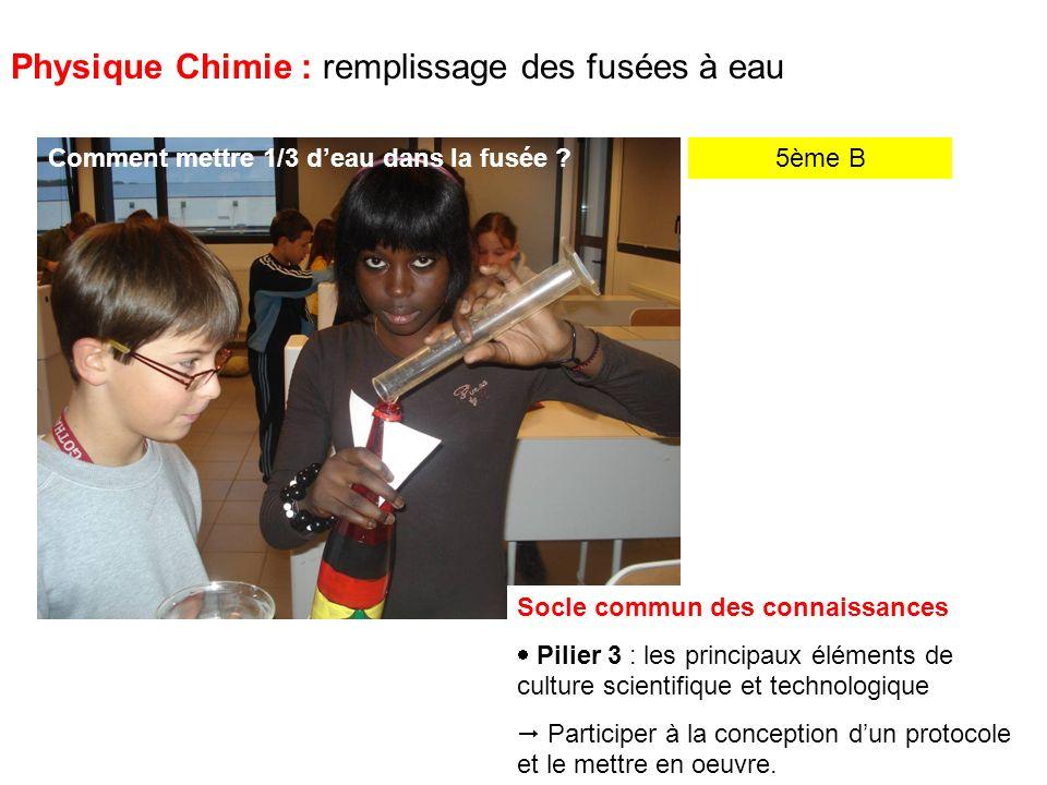 5ème B Physique Chimie : remplissage des fusées à eau Mes amis, pas sur ce ton-là .