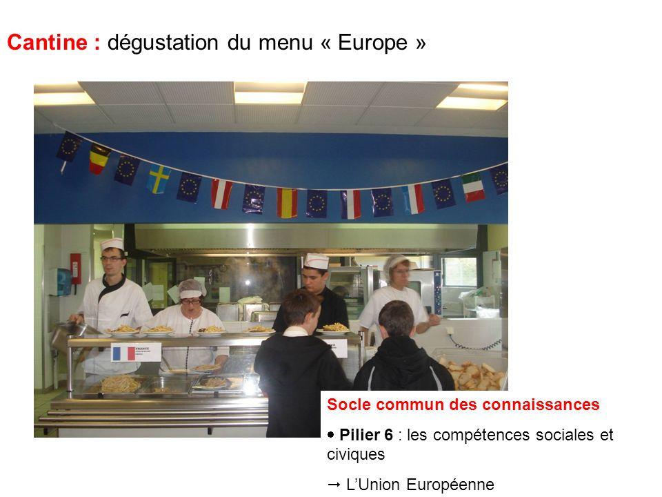 Cantine : dégustation du menu « Europe » Mes amis, pas sur ce ton-là .