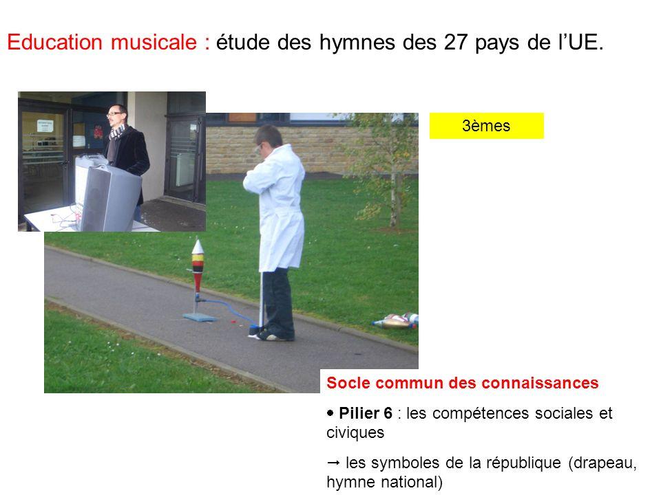 Education musicale : étude des hymnes des 27 pays de lUE.