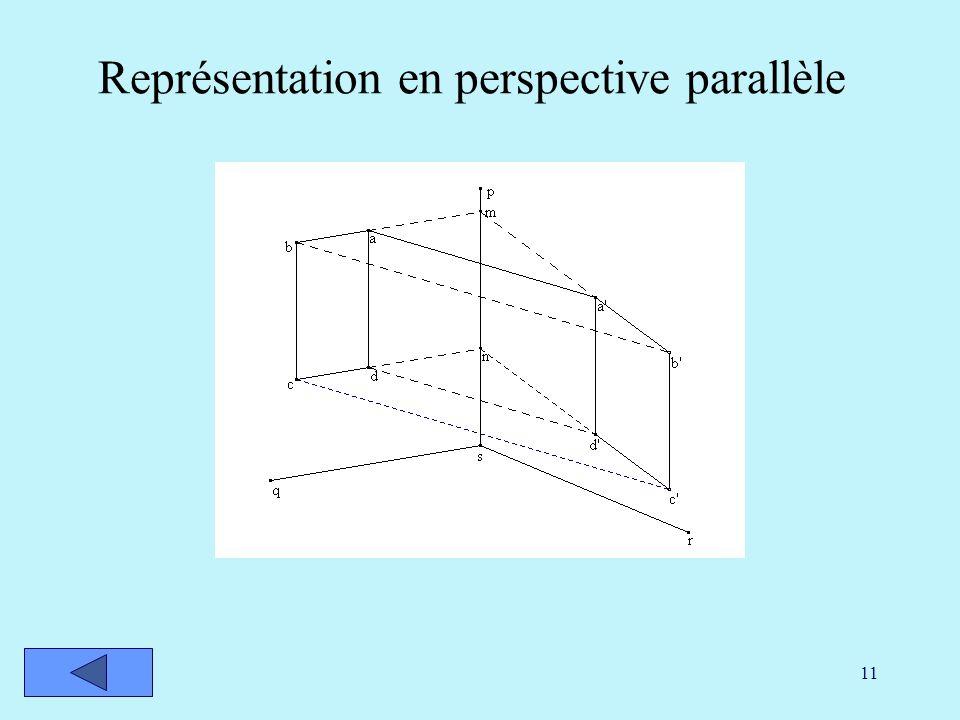 11 Représentation en perspective parallèle
