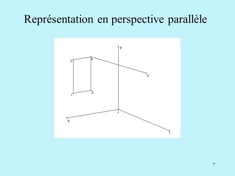 7 Représentation en perspective parallèle