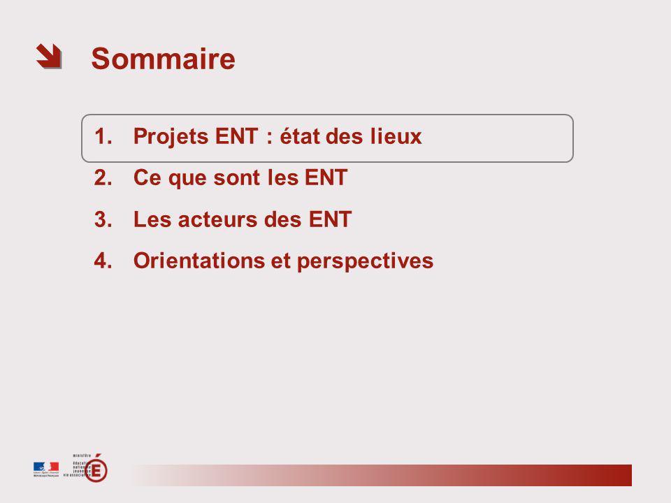 Etat des lieux des projets ENT Lycées – avril 2011