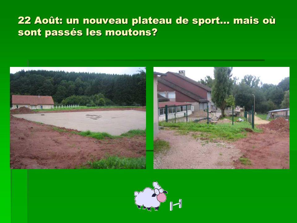 22 Août: un nouveau plateau de sport… mais où sont passés les moutons?