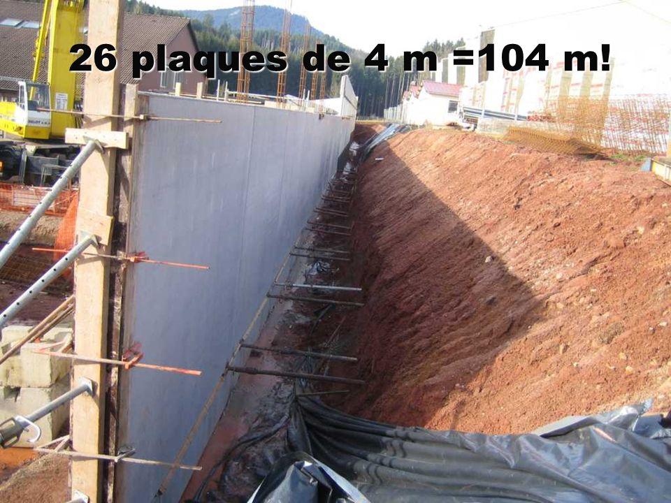 26 plaques de 4 m =104 m!