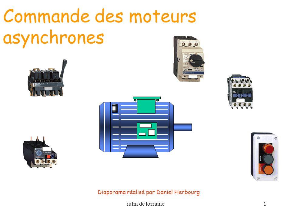 iufm de lorraine1 Commande des moteurs asynchrones Diaporama réalisé par Daniel Herbourg