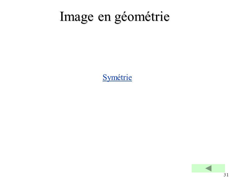 31 Image en géométrie Symétrie