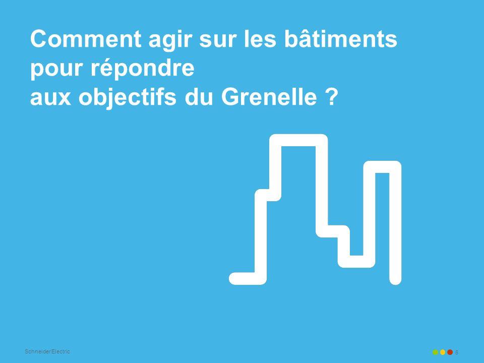 Schneider Electric 6 Comment agir sur les bâtiments pour répondre aux objectifs du Grenelle ?